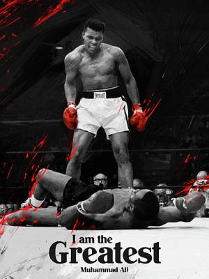 Boxer Digital Art - Muhammad Ali by Afterdarkness