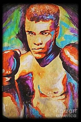 Muhammad Ali Art Print by Amy Belonio