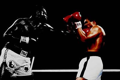 Muhammad Ali And Larry Holmes Art Print