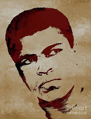 Painting - Muhammad Ali Boxer by Gull G