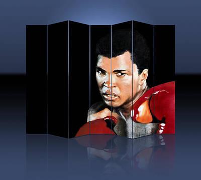 Mixed Media - Muhammad Ali Boxing Art by Marvin Blaine
