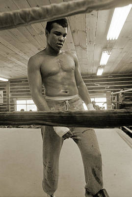 Photograph - Muhammad Ali Contemplates His Future by Jan W Faul