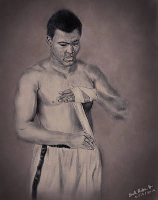 Heavyweight Drawing - Muhammad Ali by Earl Ricks