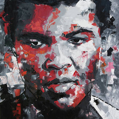 Large Painting - Muhammad Ali II by Richard Day