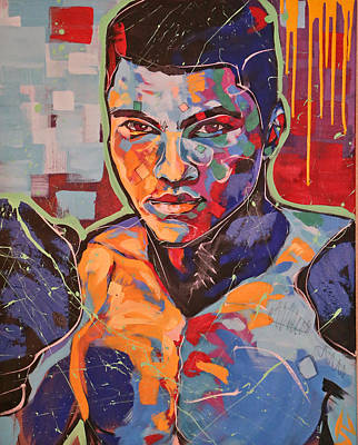 Painting - Muhammad Ali by Jay V Art