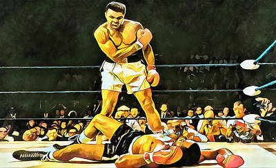 Painting - Muhammad Ali Knockout by Dan Sproul