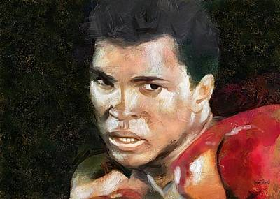 Painting - Muhammad Ali - Legend by Wayne Pascall