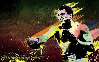Digital Art - Muhammad Ali  by Manjot Singh Sachdeva