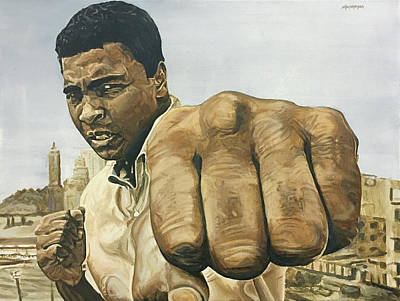 Painting - Muhammad Ali by Michael Morgan