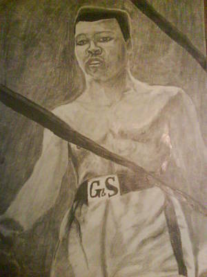 Drawing - Muhammad Ali by Milton  Gore