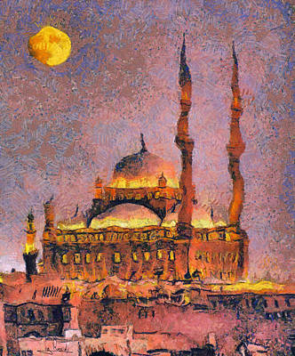 Mohammad Painting - Muhammad Ali Mosque by George Rossidis