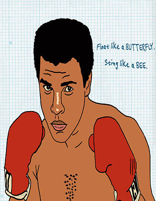 Champion Mixed Media - Muhammad Ali by Nicole Wilson