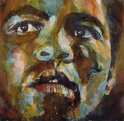 Watercolor Painting - Muhammad Ali   by Paul Lovering