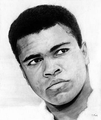 Heavyweight Drawing - Muhammad Ali Pencil Drawing by David Rives