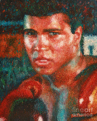 Cassius Clay Painting - Muhammad Ali Portrait by Bill Pruitt