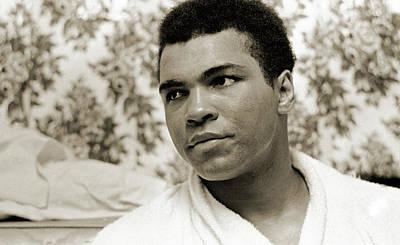 Photograph - Muhammad Ali Portrait by Jan W Faul