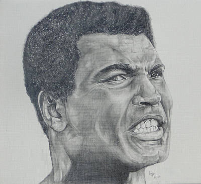 Drawing - Muhammad Ali by Stephen Sookoo