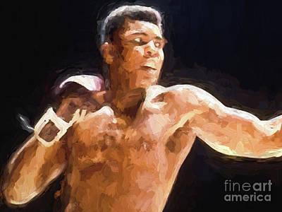 Digital Art - Muhammad Ali by Steven Parker
