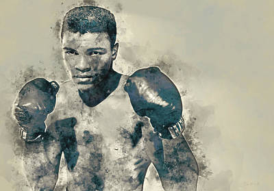 Boxer Mixed Media - Muhammad Ali, The Greatest by Dante Blacksmith