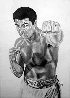 Muhammad Ali Art Print by Van Beard