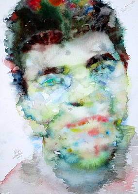 Cassius Clay Painting - Muhammad Ali - Watercolor Portrait.2 by Fabrizio Cassetta