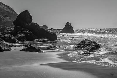 Photograph - Muir Beach II Bw by David Gordon