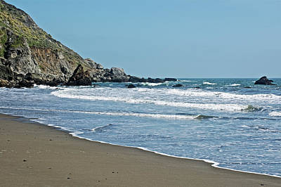 Photograph - Muir Beach In Muir Woods National Monument, California by Ruth Hager