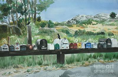 Muir Beach Mailboxes Art Print