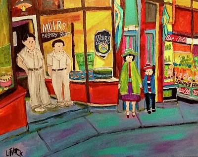 Painting - Muir's Pastry Shop Argyle And Wellington Verdun by Michael Litvack