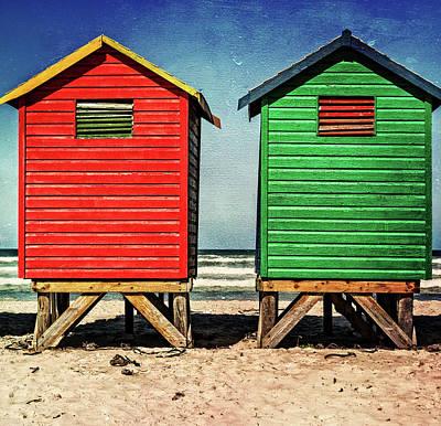 Photograph - Muizenberg Beach Huts 2 by Deborah Ann Stott