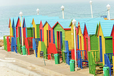 Photograph - Muizenberg Beach Huts South Africa by Marek Poplawski