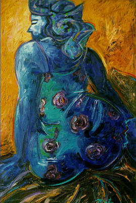 Painting - Mujer Azul by Pablo Montes