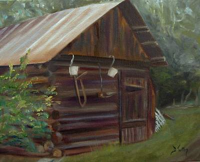 Art Print featuring the painting Mulberry Farms Grainery by Donna Tuten