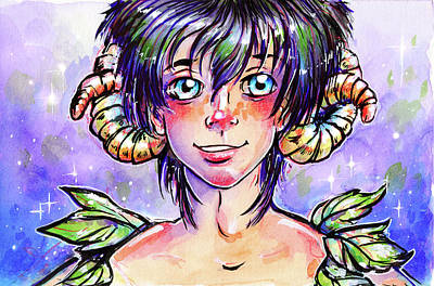 Mixed Media - Mulberry Faun by Nada Meeks