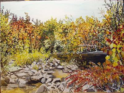Mulberry River In Fall Another View Art Print by Sharon  De Vore