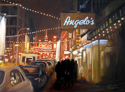 Painting - Mulberry St. Nyc by Leonardo Ruggieri