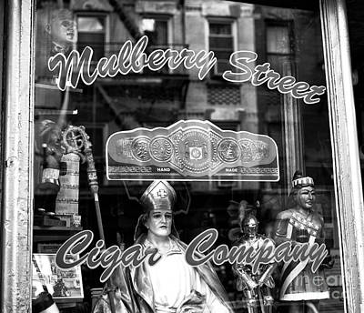 Photograph - Mulberry Street Cigar Company by John Rizzuto