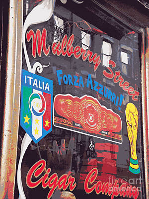Photograph - Mulberry Street Cigar Company by Miriam Danar