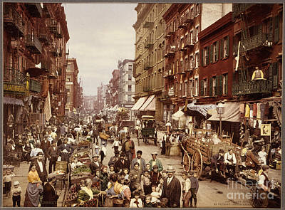 New York City Painting - Mulberry Street In New York City by Celestial Images