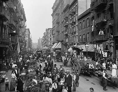 Mulberry Street In New York Citys Art Print by Everett