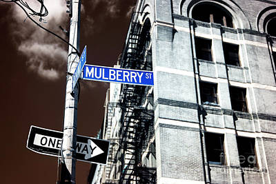 Photograph - Mulberry Street Infrared by John Rizzuto