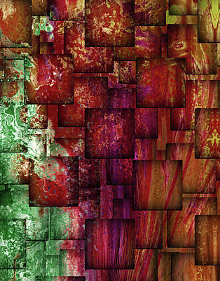 Mixed Media - Mulberry Wine Contemporary Abstract Art by Georgiana Romanovna