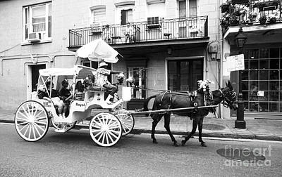 Mule And Buggy French Quarter New Orleans Art Print by Thomas R Fletcher