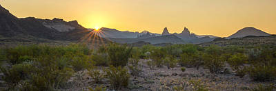 Photograph - Mule Ears Sunrise 1 - Big Bend National Park - Texas by Brian Harig