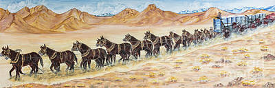 Photograph - Mule Train by M K Miller