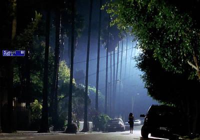 Wild At Heart Mixed Media - Mulholland Drive, Sunset Blvd by Thomas Pollart