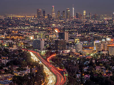 Mulholland Drive View #2 Art Print