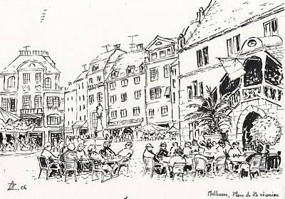 Moroccan Drawing - Mulhouse  by Abdellatif Zeraidi