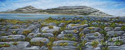Burren Painting - Mullaghmor County Clare Oil Painting by Avril Brand