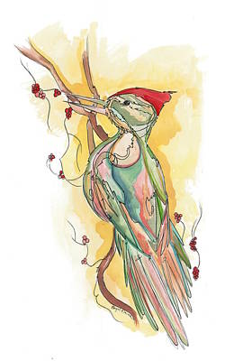Santa Cruz Watercolor Artists Painting - Mullen by Abigail Elaine